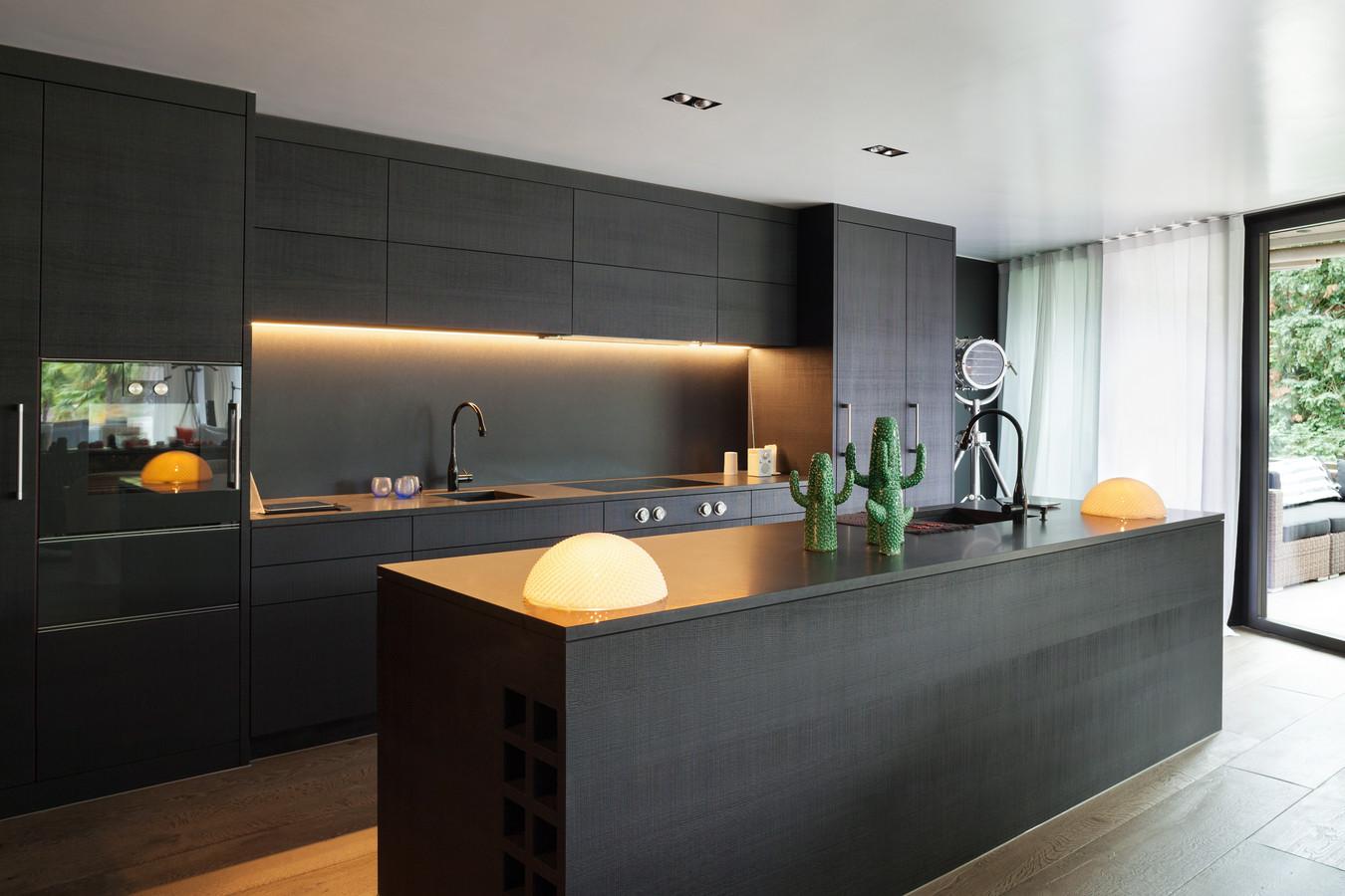 Moderne keukens zijn in een op de drie gevallen hoofdzakelijk zwart.