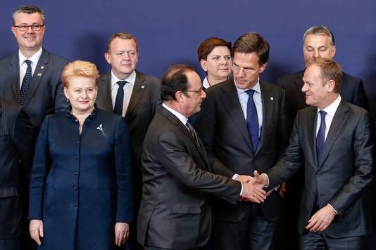 De EU-leiders voorafgaand aan de top