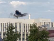 Wat is toch die zwarte rook boven het gebouw van het Radboudumc?