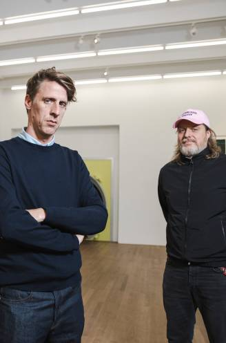 """Kunstenaar Rinus Van de Velde en galerist Tim Van Laere werken tien jaar samen: """"Vroeger zei ik vaak: 'Die Rinus lijkt me zo lui'"""""""