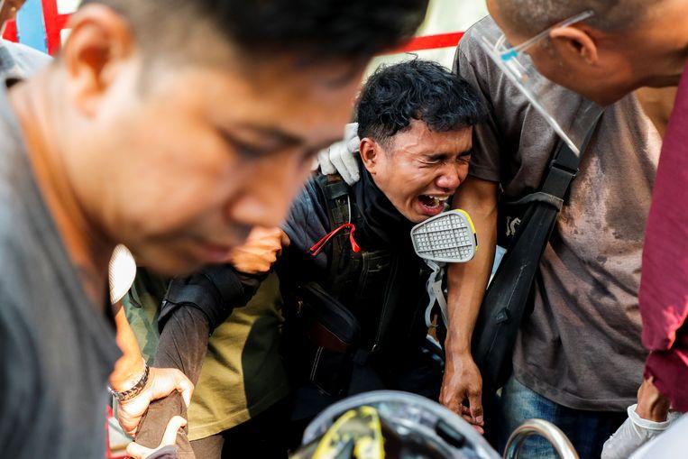 Al maandenlang woedt er hevig conflict in Myanmar, sinds de militaire staatsgreep van 1 februari. Beeld REUTERS