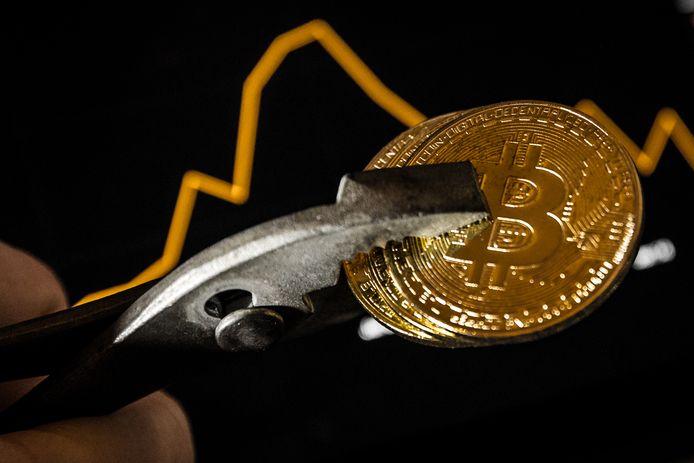 De bitcoin blijft terrein verliezen.
