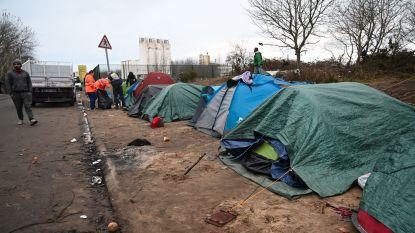 Franse ordediensten ontruimen vluchtelingenkamp nabij Calais