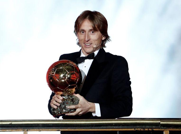 De Kroaat Luka Modric wint de gouden bal. Beeld REUTERS