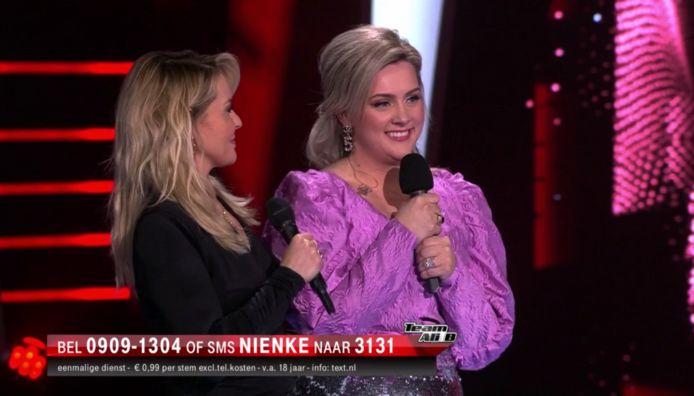 Nienke na haar optreden in The Voice