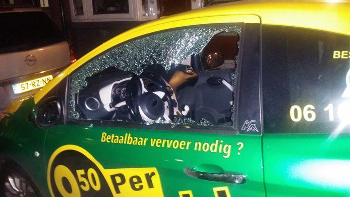 De Huprr die in het Oude Westen werd vernield. Volgens de exploitant zitten boze taxichauffeurs erachter.