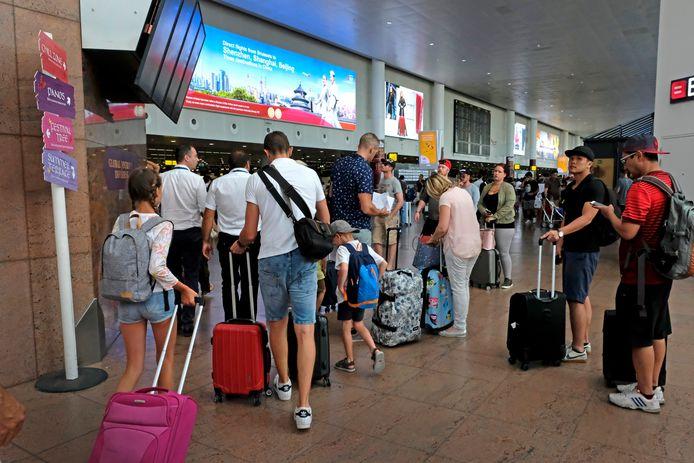 Drukte op Brussels Airport.