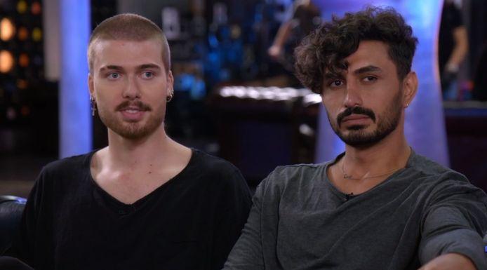 Dani en zijn vriend Azad bij The Voice.