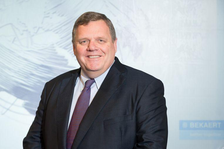 Matthew Taylor, de vertrekkende topman van staaldraadfabrikant Bekaert, heeft een erg hobbelig parcours gereden met het bedrijf.  Beeld BELGA