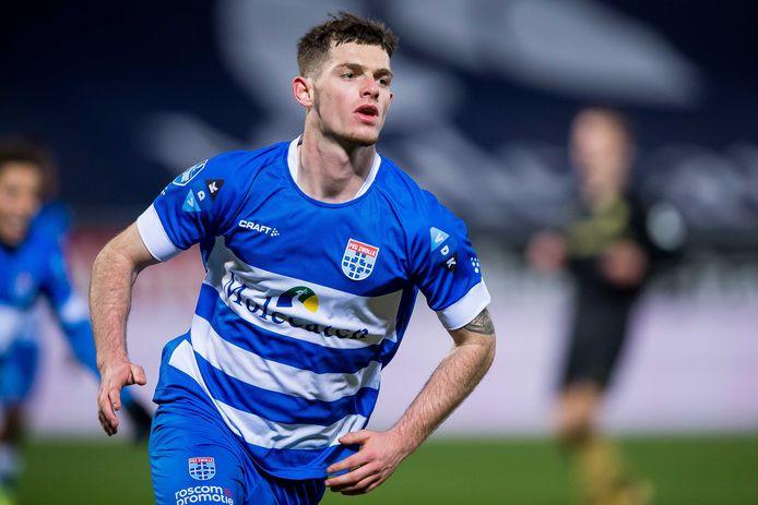 """Thomas Buitink moest even 'landen' bij PEC Zwolle. ,,Ik vond de overstap best spannend."""""""