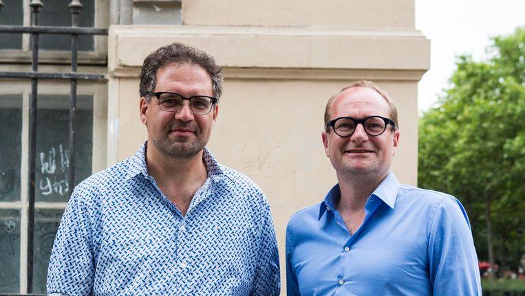 Koen Kennis samen met Vlaams minister van Mobiliteit Ben Weyts. Beeld BELGA