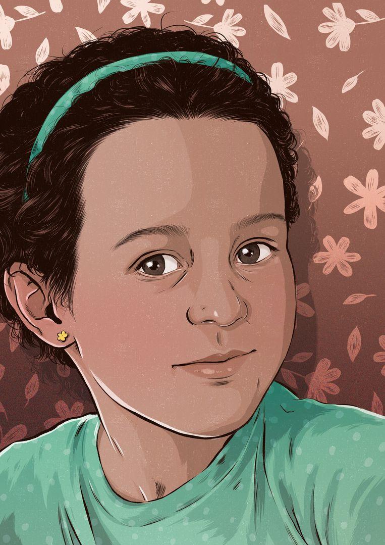In Syrië is een kind van een Nederlandse Syriëganger overleden. Het gaat om Soumaya, een dochtertje van Angela B. die in 2014 als 19-jarige vertrok uit Soesterberg. Beeld Alexandra España
