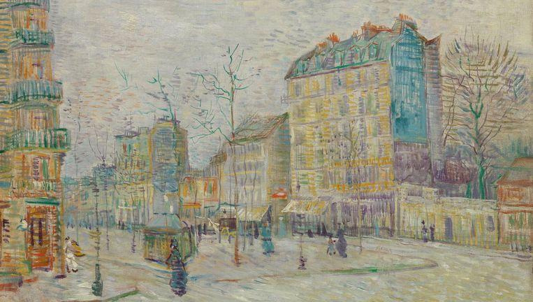Vincent van Gogh, Boulevard de Clichy, Parijs, 1887, olieverf op doek Beeld Van Gogh Museum Amsterdam