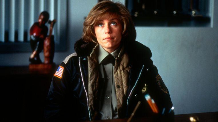 Frances McDormand in Fargo van de gebroeders Coen. Beeld