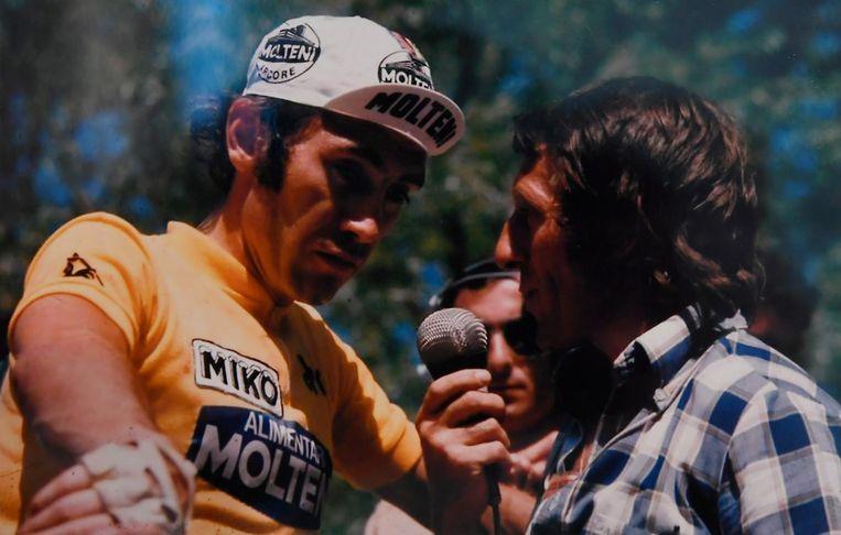 Ook Eddy Merckx werd geregeld op de rooster gelegd door de sportcommentator.