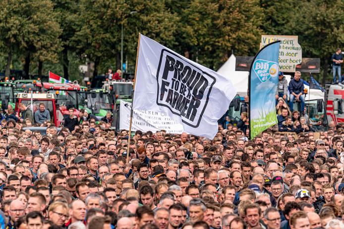 Duizenden boeren waren op het Malieveld in Den Haag.