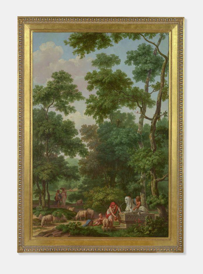Het ensemble van de bij elkaar horende interieurstukken uit circa 1780 van behangschilder Jurriaan Andriessen.