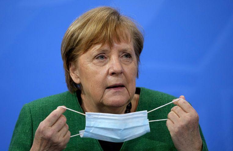 Kanselier Angela Merkel. Beeld via REUTERS