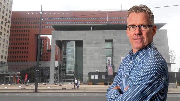 Sander Sonnemans voor de rechtbank in Rotterdam.