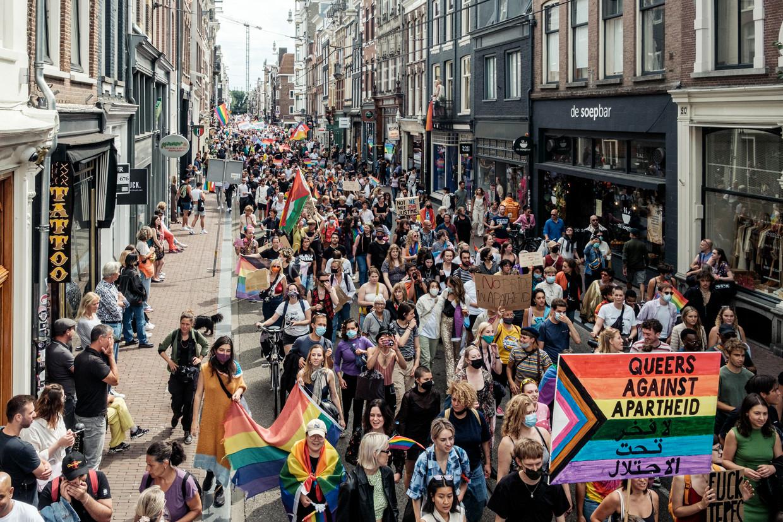 Pride Walk in de Utrechtsestraat.