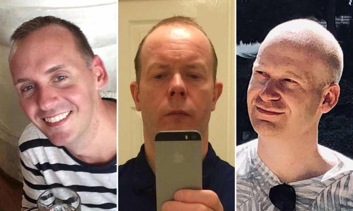 Slachtoffers Joe Ritchie-Bennett (39), David Wails (49) en James Furlong (36).