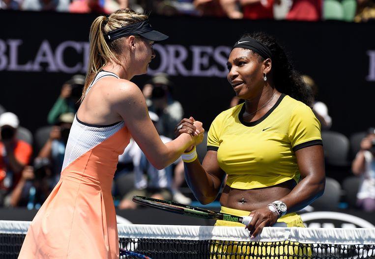 Maria Sharapova en Serena Williams. Beeld ap