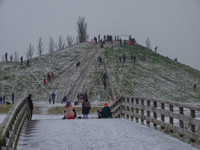 Sneeuwpret in Sommelsdijk