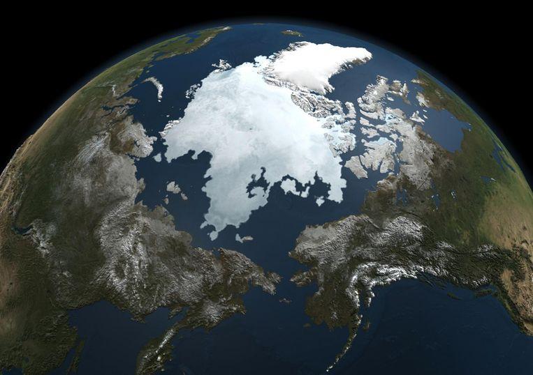 Een foto van de Aarde, genomen door de NASA Aqua-satelliet. Beeld afp