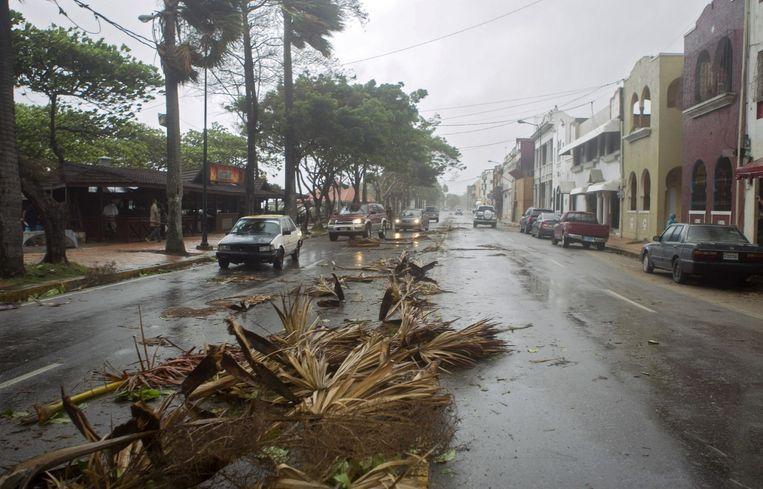 Erika zorgde voor een flinke ravage in de Dominicaanse Republiek. Beeld ANP