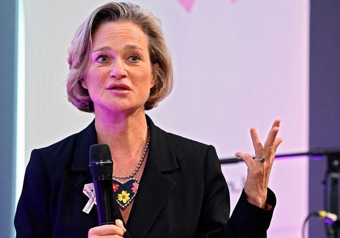 La princesse Delphine à la conférence de presse de Pink Ribbon le 14 septembre dernier.