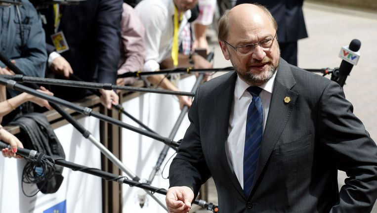 Martin Schulz, voorzitter van het Europese Parlement Beeld AFP