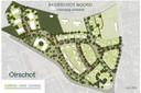 Een voorlopig ontwerp van de nieuwbouwwijk Ekerschot-Noord. Het U-vormige grote gebouw wordt het woonzorgcomplex.
