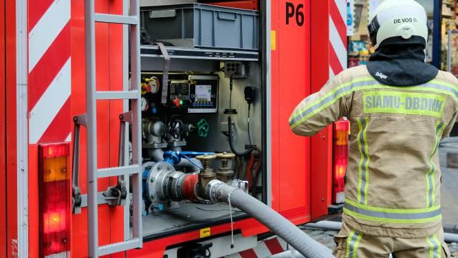 Vonk van snoeimachine veroorzaakt brand