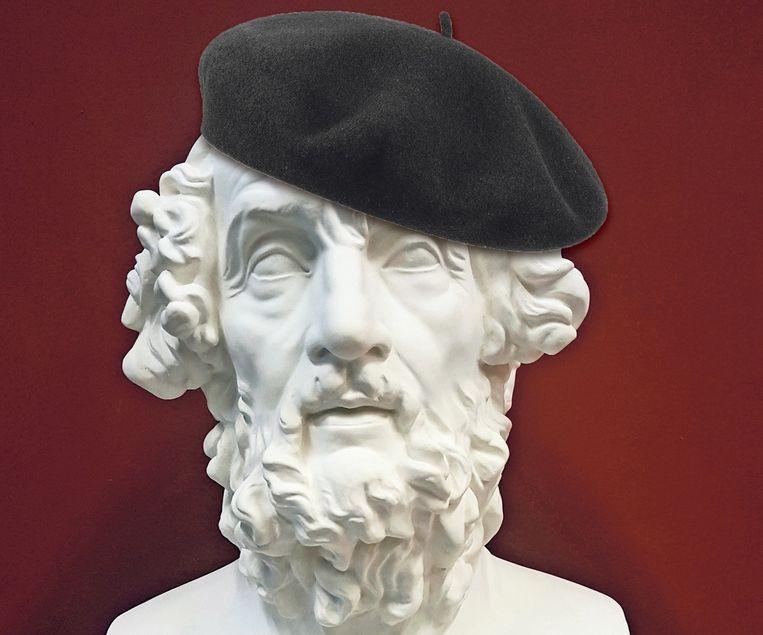 Homerus, met additionele alpinopet (fotomontage) Beeld Bruxelles Musée du Cinquantenaire / Atelier_de_moulage