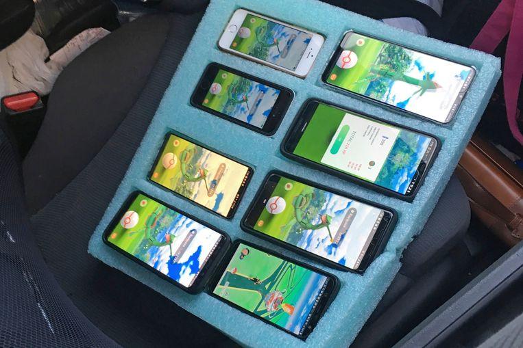 De smartphones in kwestie