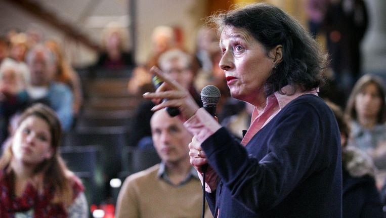 Oud-CPN'er Ina Brouwer noemde het betoog van Henk Spaan 'gedreven en persoonlijk' - wat haar deed denken aan de stijl van de oude communisten. Beeld Jean-Pierre Jans (www.jeanpierrejans.nl)
