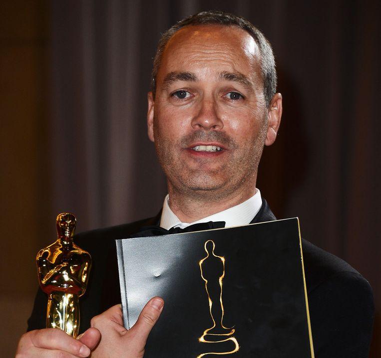 De Nederlander Erik-Jan de Boer heeft samen met drie collega's een Oscar gewonnen voor zijn werk aan de film Life of Pi. Beeld getty