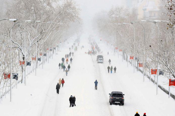 Avenue Castellana à Madrid
