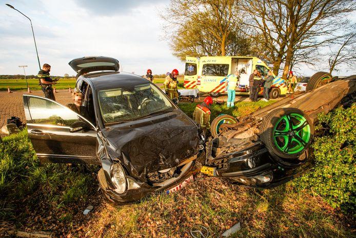 Het ernstige ongeluk aan de Fressevenweg in Bergeijk.