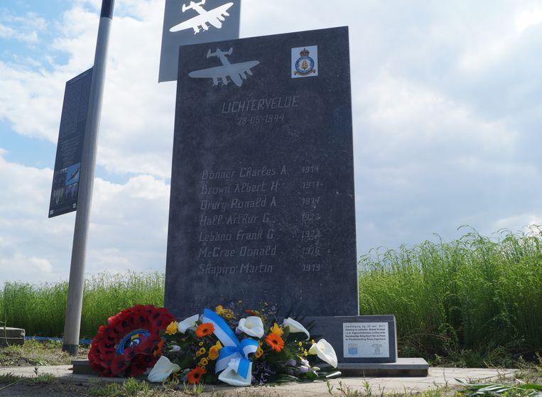 Er werd een bloemenhulde gebracht aan het herdenkingsmonument in de Koolskampstraat