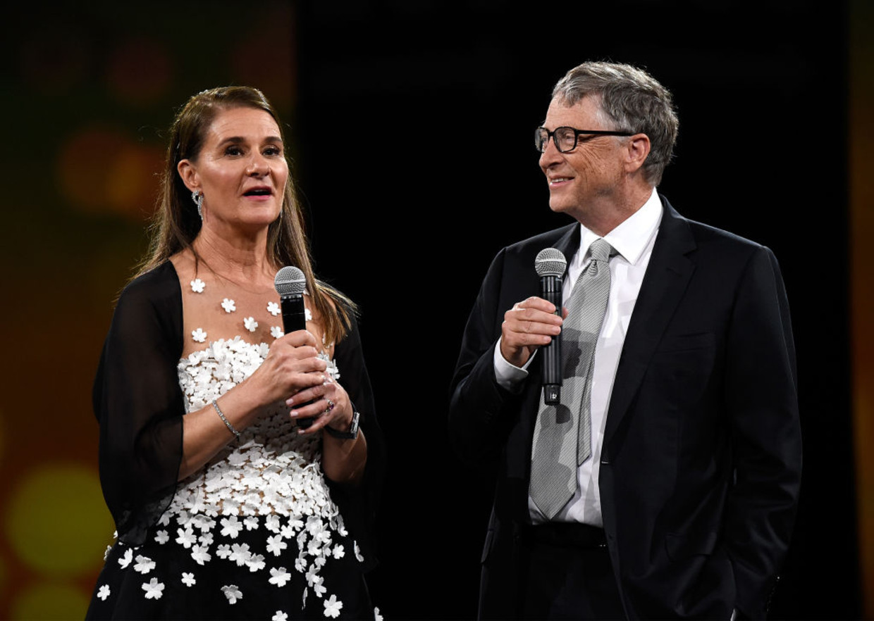 Melinda Gates en Bill Gates in 2018 Beeld Getty Images for Robin Hood