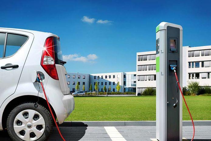 E-Tankstelle in Duitsland.