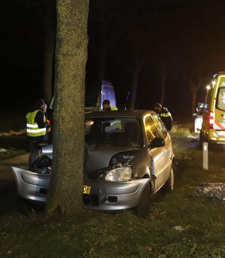 Automobilist gewond door botsing tegen boom in Rijkevoort