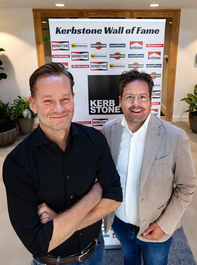 Wim van Eijk (links) en Bart Scheepens zijn met Kerbstone geïnspireerd door de Formule 1-racerij.