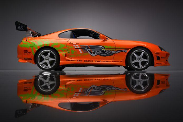 De Toyota van Paul Walker uit de film 'The Fast and The Furious'.