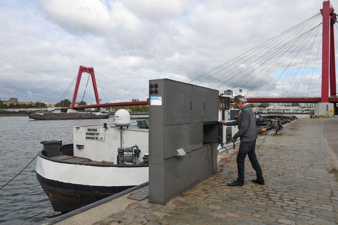 Walstroom voor de binnenvaart in Rotterdam