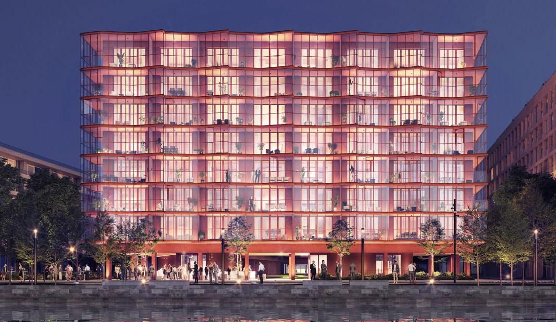 Het ontwerp van het gebouw is geïnspireerd op het Indische Panch Mahal-paleis