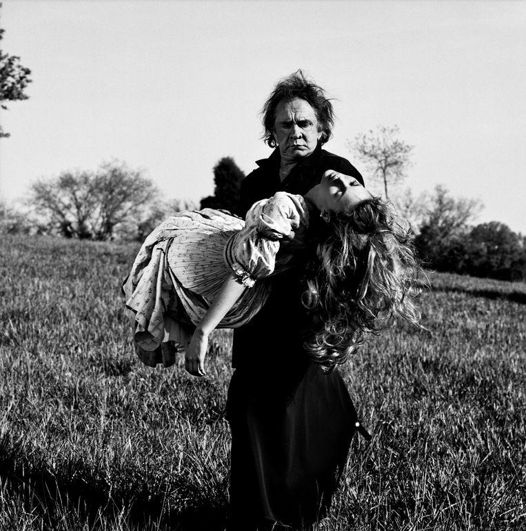 Johnny Cash en Kate Moss in Nashville, 1994. Beeld Anton Corbijn