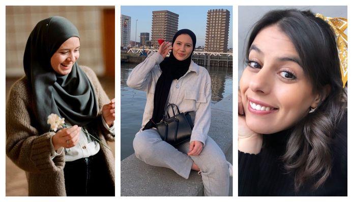 Anisa (28), Fien (22) en Nadia (28)