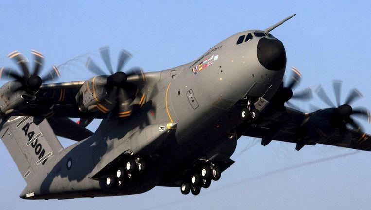 De Airbus A400M, het zware transportvliegtuig dat diverse Europese landen hebben ontwikkeld om niet afhankelijk te zijn van Amerikaanse toestellen. Beeld EPA